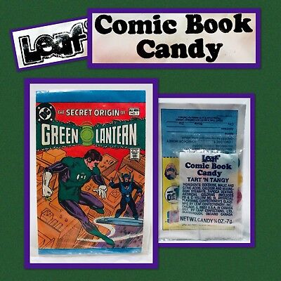 Vintage 1981 Leaf GREEN LANTERN Comic Book Candy Pack bubble gum container