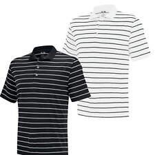 Adidas Golf 2 Color Stripe Puremotion Polo Shirt Mens New - Choose Color/Size