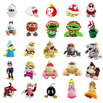 5~12'' Super Mario Bros Plush Toys Magikoopa Kamek Waluigi Bowser Koopa Jr. Lot - Mario Plush Bros