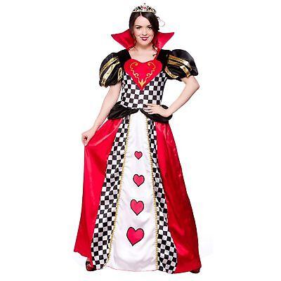 Queen Of Hearts Fairytale Wonderland Alice Adults Womens Fancy Dress Costume](Alice Of Wonderland Costumes)