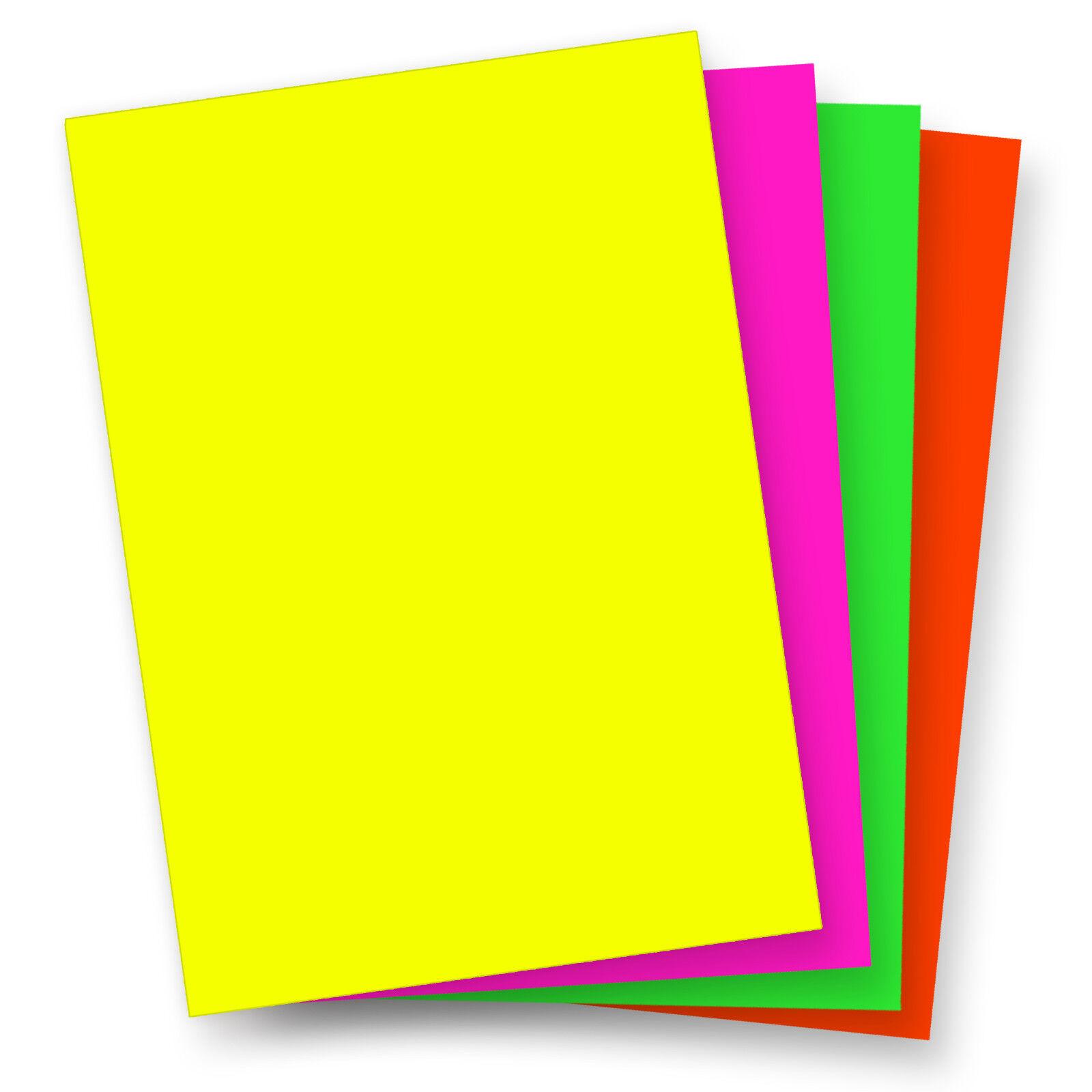 Briefpapier NEON - Rot Grün Gelb Pink Neonpapier Papier DIN A4 Kopierpapier