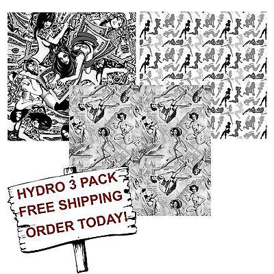 Hydrographic Film Water Transfer Printing Film Hydro Dip Fantasy Girl 3 Pack
