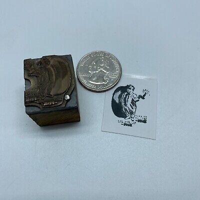 Vintage Fisk Tire Company Advertising Letterpress Block Print Stamp 1 X 34