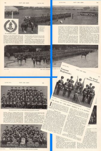 1915 WWI ~ ROYAL MUNSTER FUSILIERS HISTORY OFFICERS PAST & PRESENT 2nd BATT