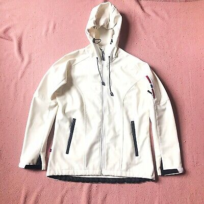 Norway Classic Cream / Off White Soft Shell Polyester Coat Jacket Size Medium Poly White Shell