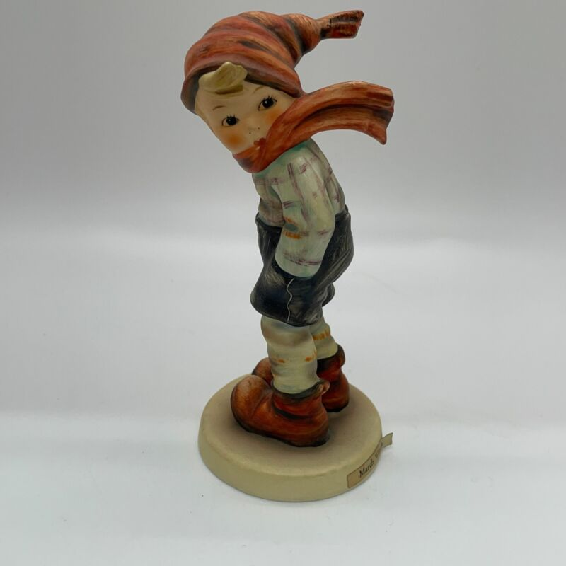 Hummel Goebel March Winds W Germany Boy Figurine With Scarf 43