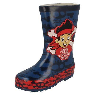 Boys Disney Crossbone Classic Wellington Boots - Jake And The Neverland - Jake And The Neverland Pirate Boots