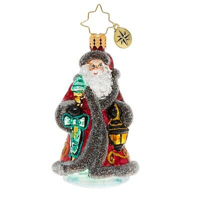 [NEW Christopher Radko TRAVELING FATHER CHRISTMAS Ornament 1020241 Little Gem</Title]