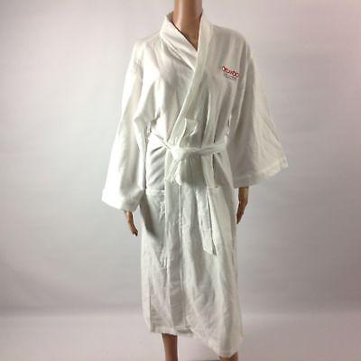 Terry Town Orlando Health F24 Womens Sleep Robe Cotton Blend Wrap White One Size