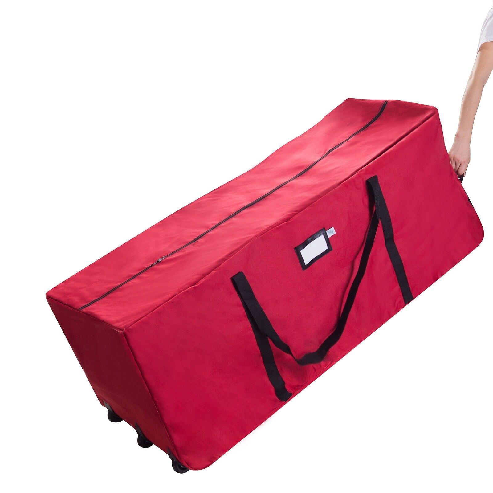 Elf Stor Premium Red Rolling Duffle Bag Style Christmas Tree
