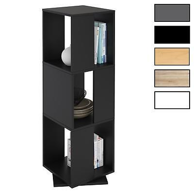 Drehregal Bücherregal Deko Regal Büro Ordner drehbar mit 3 Fächern 5 Farben