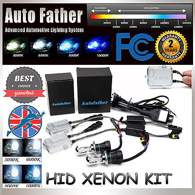 55W HID Xenon Car Conversion KIT Headlight HighLow Beam Slim Ballast All Colors