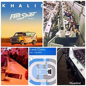 KHALID - LOGE LEVEL - BEST SEATS - STAGESIDE - UP TO FOUR SEATS
