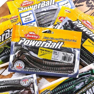 BERKLEY POWERBAIT Power Worm Flip Pitch Ribbon Tail Soft Bait 10