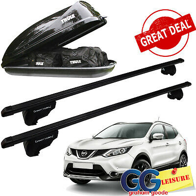 Lockable Aluminium Aerodynamic Car Roof Rack Rail Bars for Nissan Qashqai 06-14