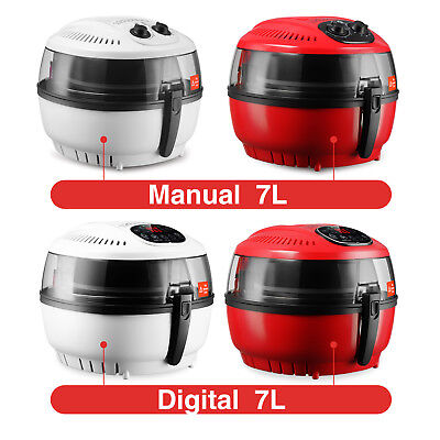10qt Whitered Digital Electric Air Fryer Oil-less Griller Calorie Reducer
