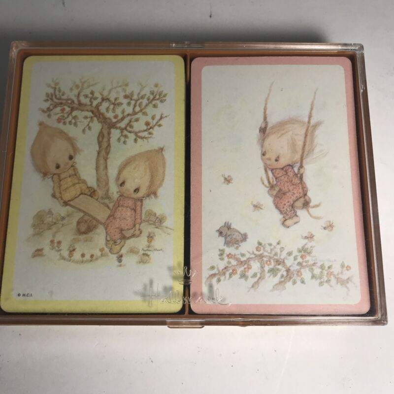 Hallmark Betsey Clark Funtimes Bridge Playing Cards W Plastic Case Qty 2 Decks