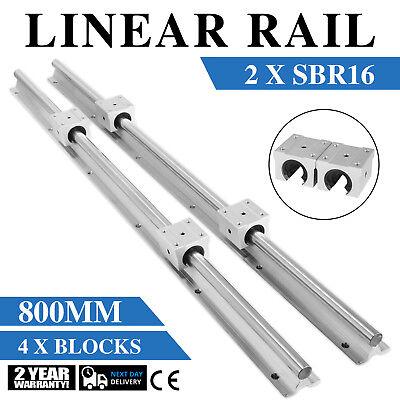 Sbr16-800mm 2x Linear Rail Set 4x Bearing Block Smooth Sliding 16mm High Load