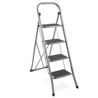 VonHaus 4 Step Steel Ladder - Folding