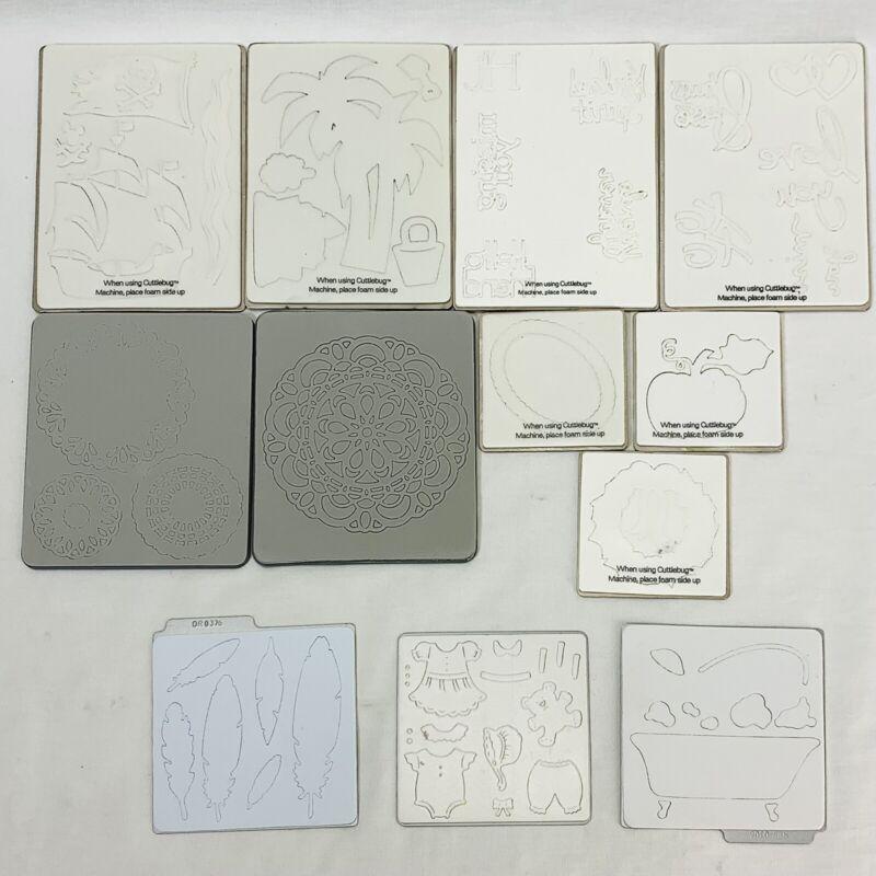 Die Cut Lot of 12 Embossing Folders Provo Craft Siziz Quickutz Scrapbooking