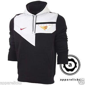 Nike-Mens-Flight-Hooded-Sweatshirt-Top-Black-White-Red-Hoodie-All-Sizes-465561