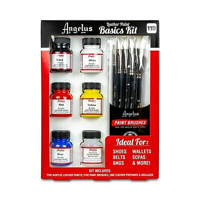 Angelus Brand Leather Paints Basic Starter Kit