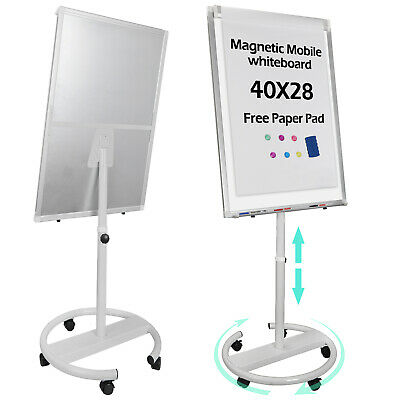 Around Whiteboard Dry Erase Telescopic Roll Easel Magnetic Display Board 25x36