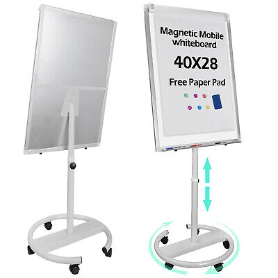 Telescopic Roll Around Whiteboard Dry Erase Easel Magnetic Display Board 25