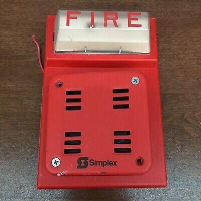 Simplex Fire Alarm Combo 2901-9838 4903-9101 Vintage Hornstrobe - Collectible