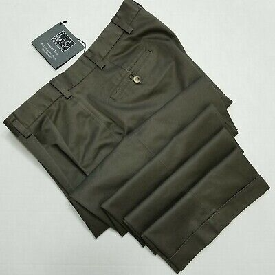 Jos A Bank Traveler Twill Pants, double pleated, Grayish Green NEW 38x30 Twill Double Pleat Pants