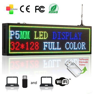P5 Wifi Rgb Led Scrolling Display 32128dots Message Boardindoor Led Display