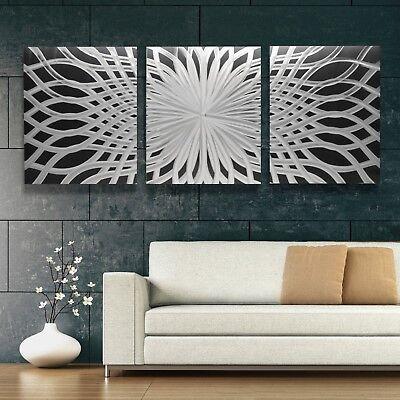XL Modern Abstract Metal Wall Art Contemporary Sculpture Design Piece Home Decor ()