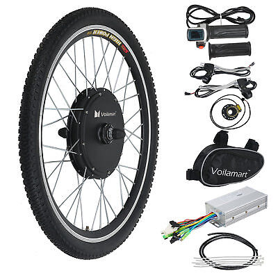 """26"""" 48V 1000W Ebike Front Wheel Electric Bicycle Motor Conversion Kit Hub New"""