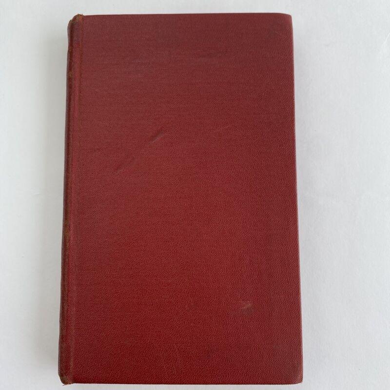 Red MASONIC Vintage Antique Code Book Masons Diagrams Degrees Rituals