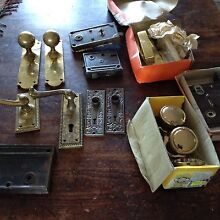 used new brass door handle antique lock  door plates knobs Woongarrah Wyong Area Preview