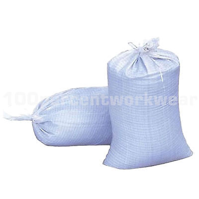 100 x Heavy Duty Woven Polyprop Sacks Bags Builders Rubble Sand Flood 18 x 24