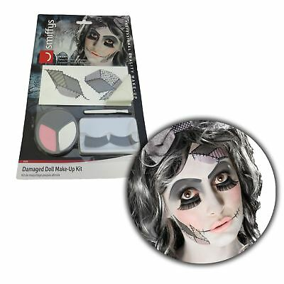 t Broken China Evil Doll Facepaint FX Set Fancy Dress Outfit (Broken Doll Make-up)