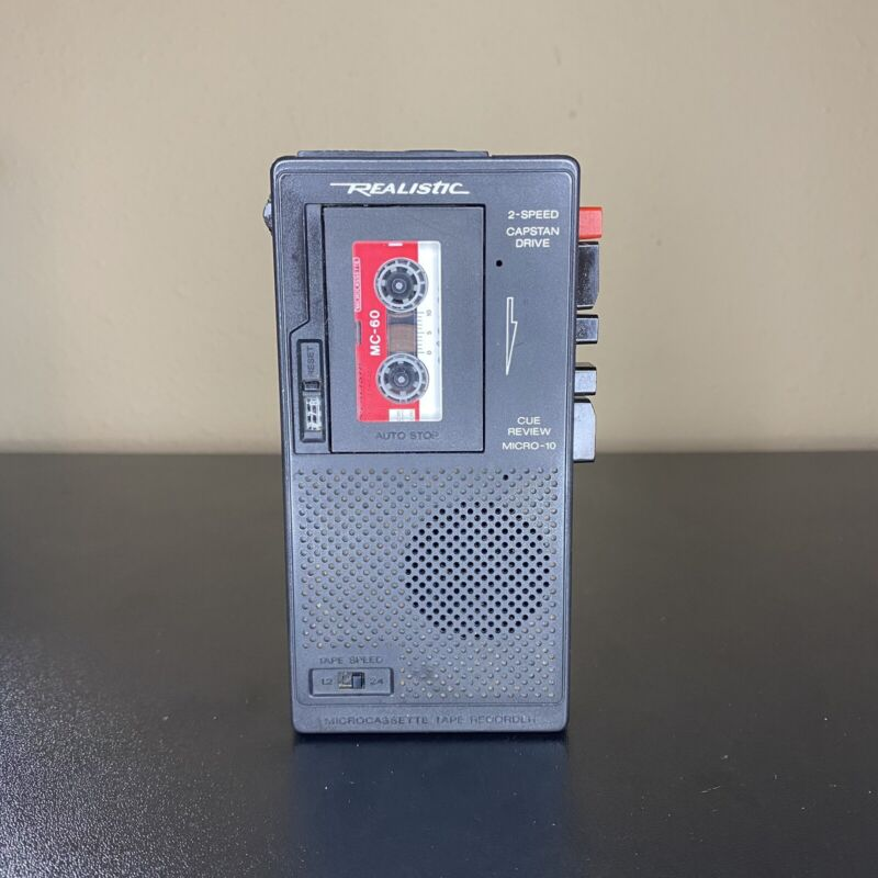 Realistic Micro-minisette Microcassette Recorder Player 14-1016A W/ Tape Tested!