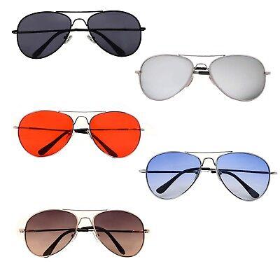 Classic Aviator Color Sunglasses Small Size Spring Hinge Temple (Colored Aviators)