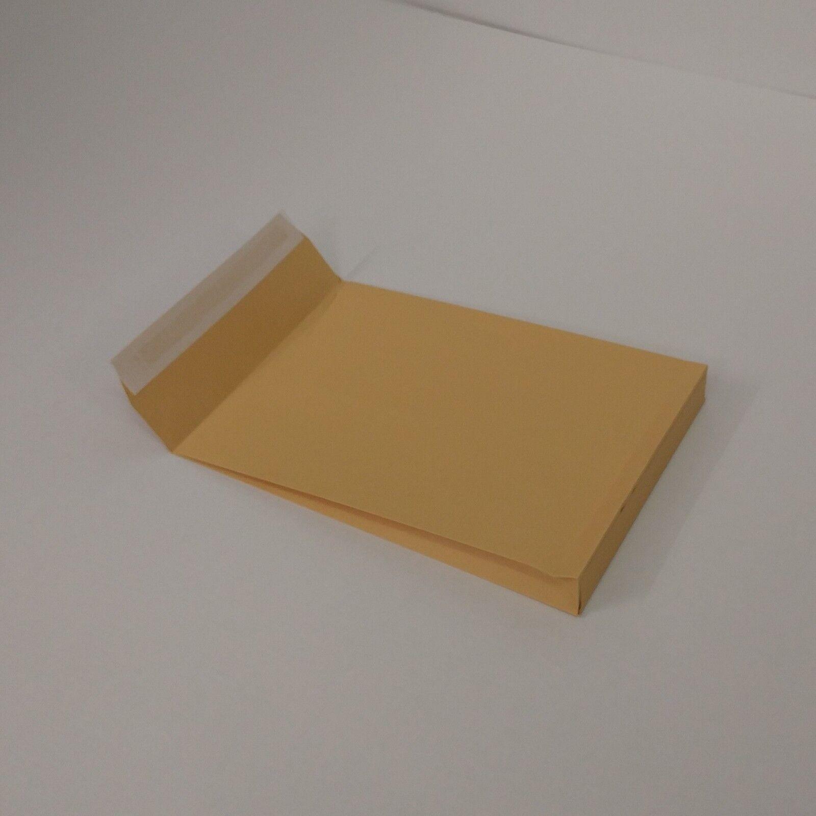 Faltentaschen B4 250x353x40mm 130gr Natron-Kraftpapier braun Versandtaschen
