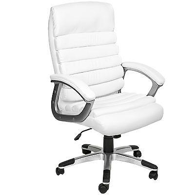 Design Bürostuhl Chefsessel Stuhl Drehstuhl Schalensitz Sportsitz Büro weiß