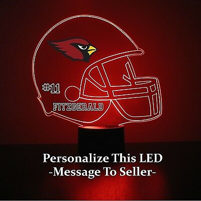 Arizona Cardinals Led (Arizona Cardinals Night Light 16 Colors Personalized FREE NFL Football LED)