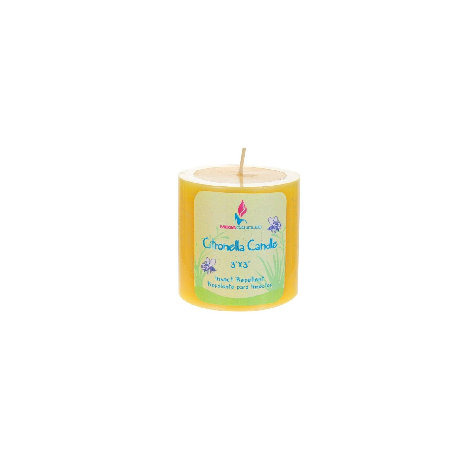 Mega Candles 3 pcs Citronella Round Pillar Candle | Hand Pou