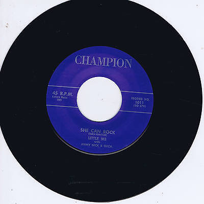 LITTLE IKE - SHE CAN ROCK / AM I LOSING YOU (50s Screamin' Black Rocker - Jiver)