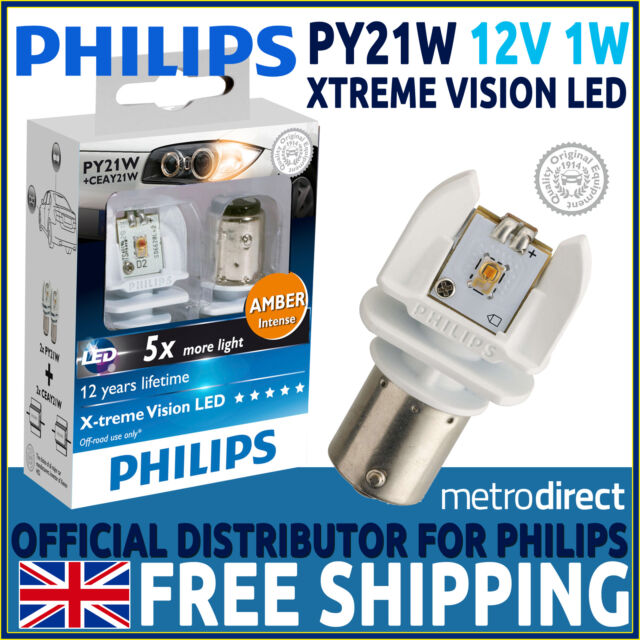 philips xtreme vision led py21w retrofit car bulbs amber. Black Bedroom Furniture Sets. Home Design Ideas
