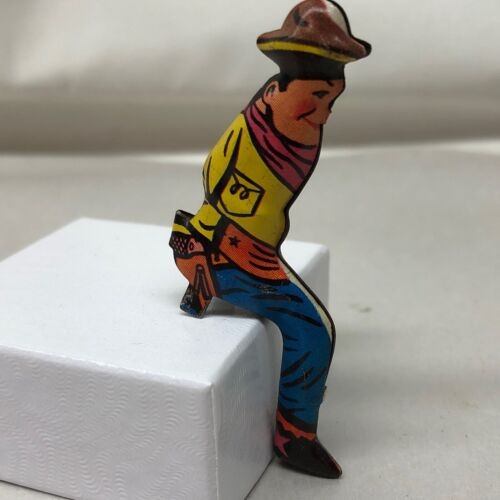 tin litho cowboy, replacement stagecoach driver (AEE656)