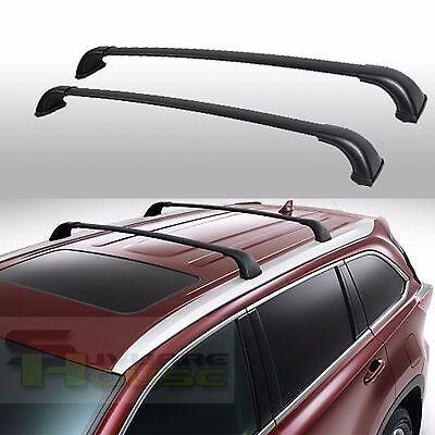 For 14-18 Toyota Highlander XLE / Limited Aluminum Black Roof Rack Cross Bar