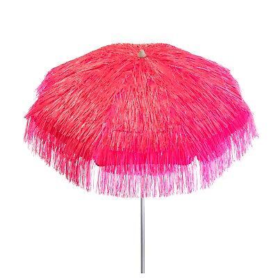 Pink Palapa Tiki Hula Hawaiian 6 ft Patio or Beach Umbrella Tropical Themed](Hawaiian Patio)