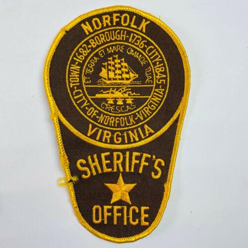 Norfolk Sheriff Virginia VA Patch (B5-B)