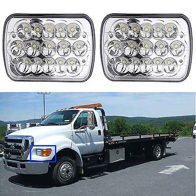 "Fit For Ford Super Duty Truck F550 F600 F650 F700 F750 7X6"" LED Headlight 2Pcs"
